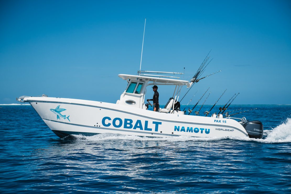 namotu island fishing charter world cat cobalt fiji