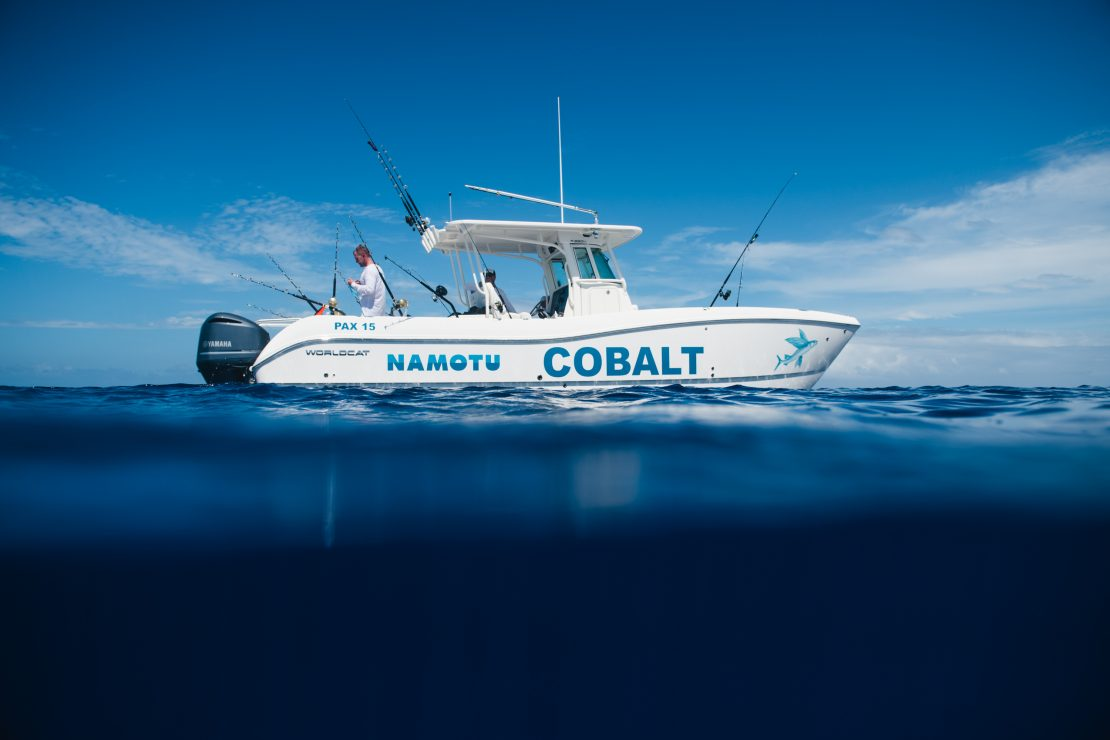 namotu island charter boat cobalt luxury fishing surf day trips