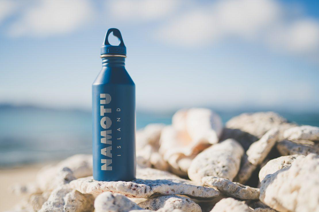 Namotu island water bottles mizu coral reef